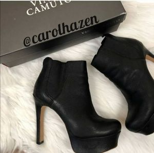 Vince Camuto Platform Bailey Leather Ankle Booties